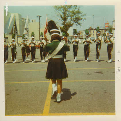 Cathy Wise leading the corps