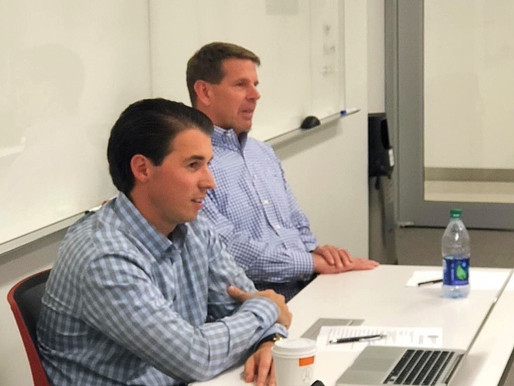 Nate Tower addresses Georgetown University Real Estate Entrepreneur graduate class