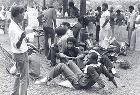 Party People Chillin': Liz-Arleen-Larry Grant-Peter(RIP) George