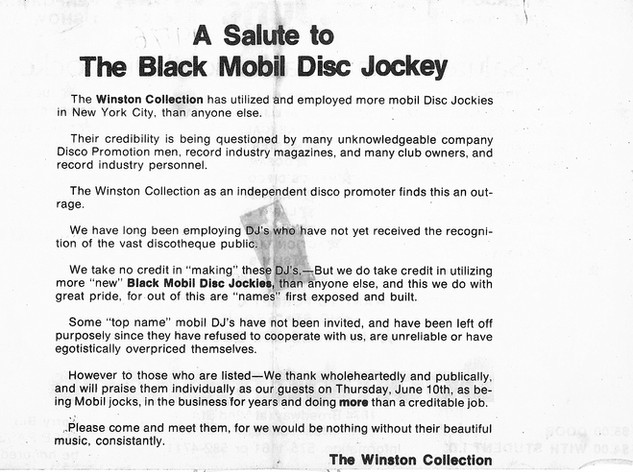 A Salute To Black Mobile Jocks 1976