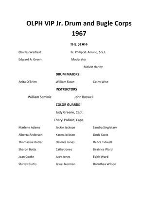 UPDATED OLPH VIP Jr_1967 Member List 1