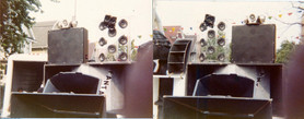 Plexiglass And Midrange Speakers With JBL And Piezo Tweeters Folded Bass Cabinets 90 Degree Plastic Radial Horns
