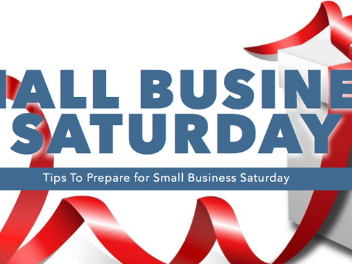 Small Business Saturday 2018 – Are You Ready?