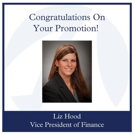 Liz Hood now Vice President of Finance