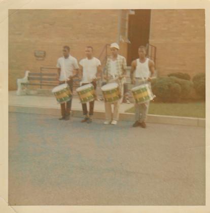 Joe Langley, Clifton Younger, Norman Dowtin, Carl Bennett Practicing