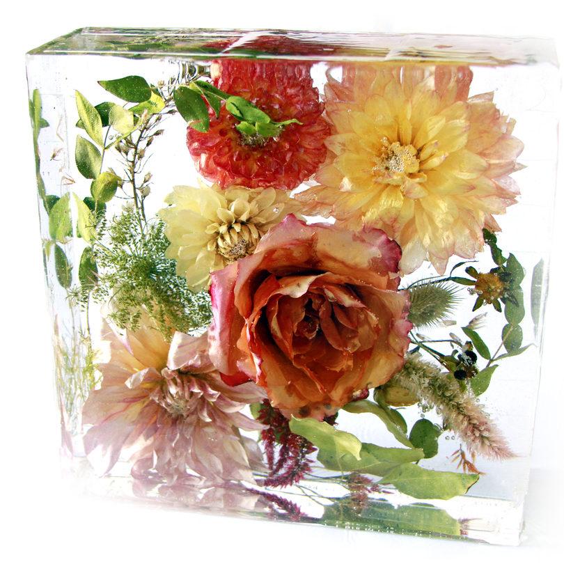"""8"""" square - wedding bouquet preservation - jen"""