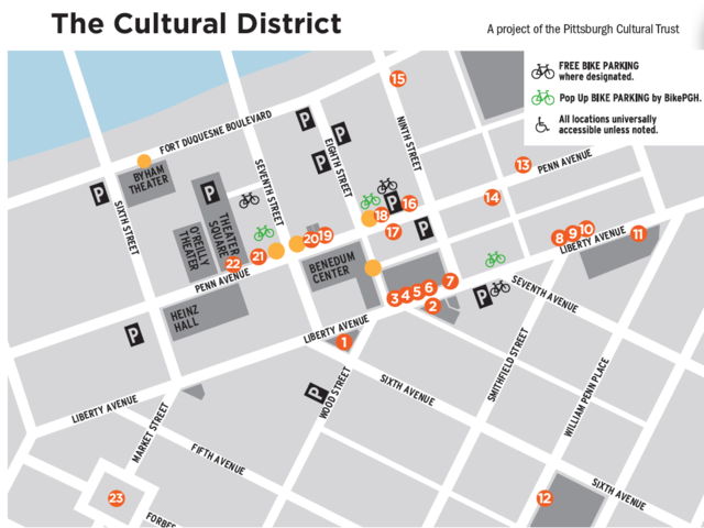Pittsburgh Cultural Trust Gallery Crawl Map