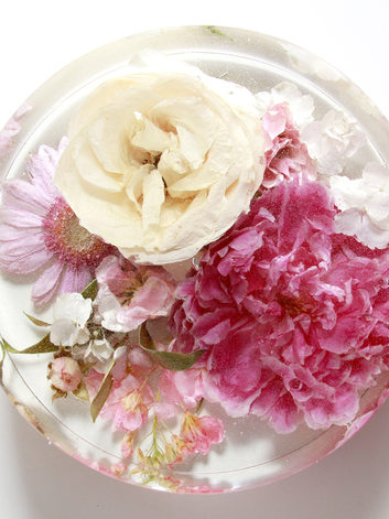 top view - bouquet round - shannon