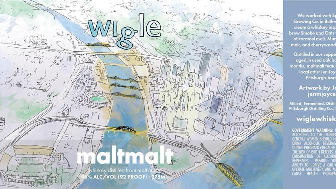 maltmalt Wigle Whiskey + Spoonwood collaboration - label design