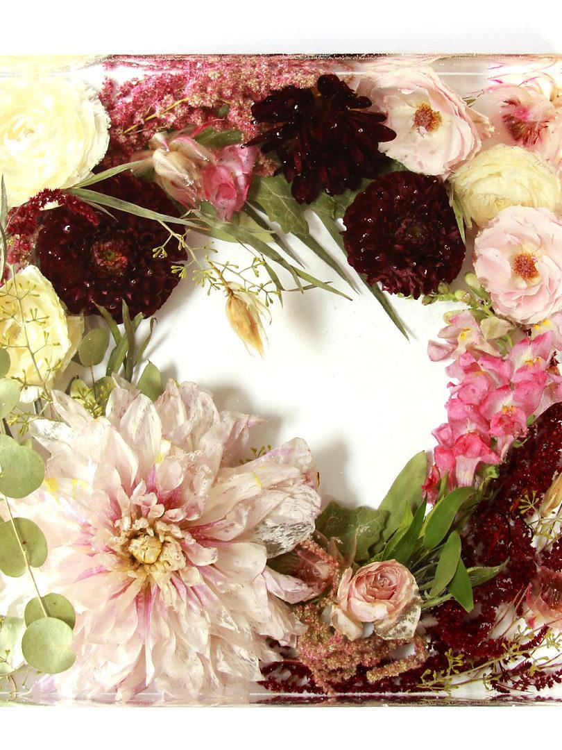 "10"" square - wedding bouquet preservation"