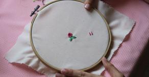 כיצד לרקום ורד בתך בוליון Bullion Stitch