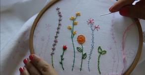 5 דרכים לרקמת פרחים