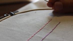 כיצד רוקמים את תך המכונה Back stitch?