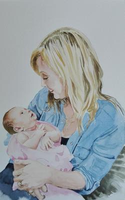 portrait mother & child