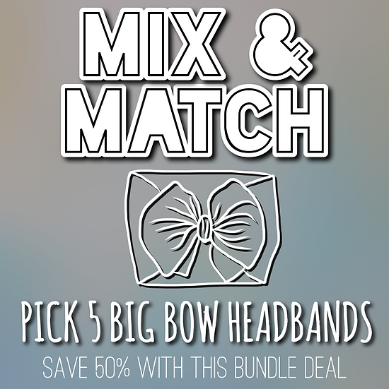 5 Piece Bow Headbands | BUNDLE DEAL