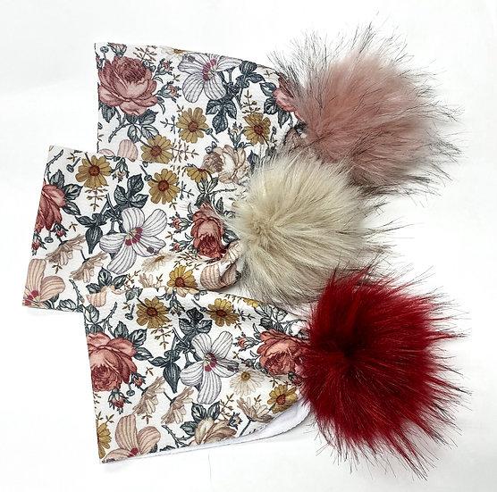 Floral Furball Headbands