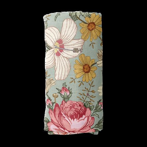 Cotton Muslin Swaddle | Vintage Sage