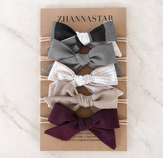 Fall Bow Set of 5