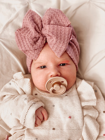 Bow Turban | Dusty Pink