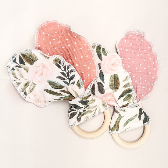 Ring Teether   Roses