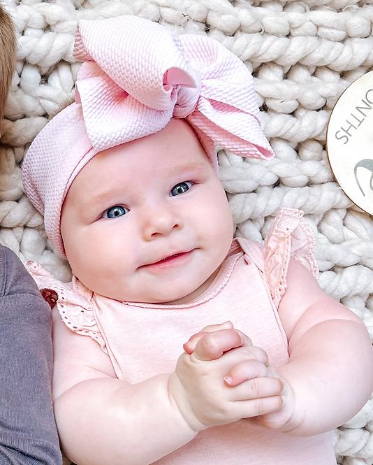 Big Bow Headband | Baby Pink