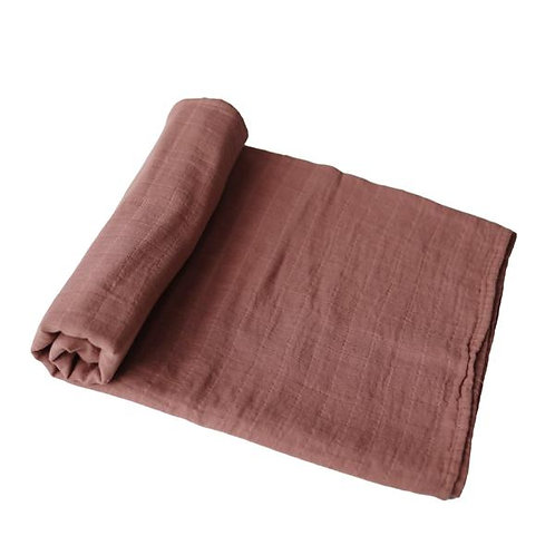Muslin Swaddle Blanket Organic Cotton | Cognac