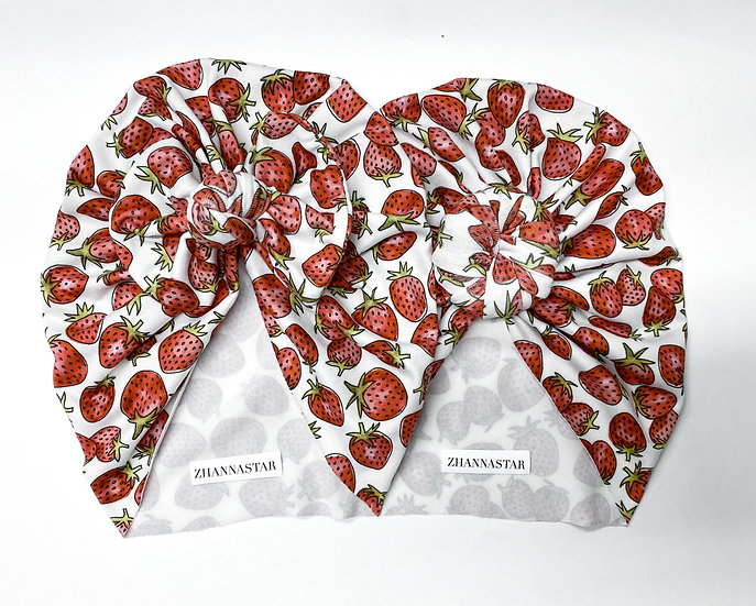 Strawberry BUN | BOW Headwraps
