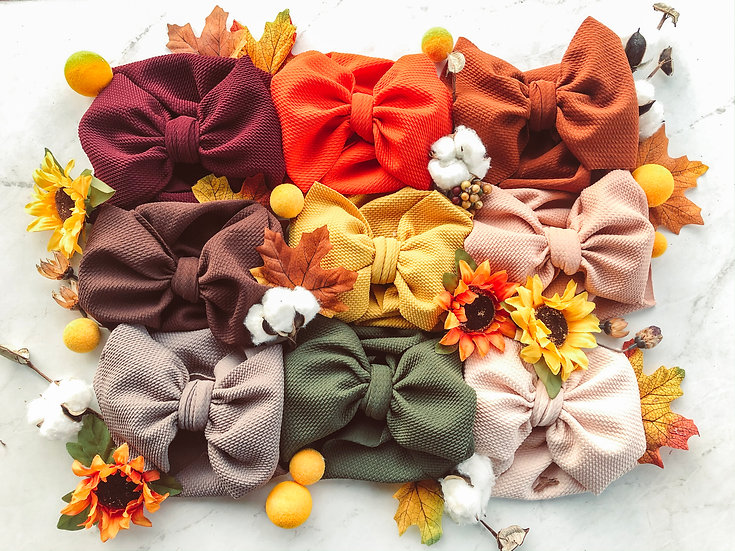 Fall Collection Small   Big Bow Headbands