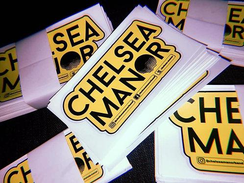 Chelsea Manor Yellow Sticker