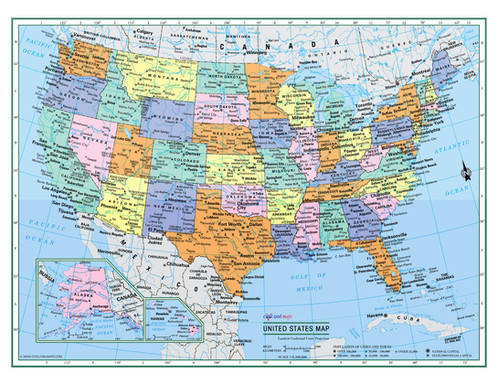 Large us map poster idealstalist large us map poster gumiabroncs Gallery
