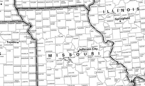 USA County Wall Map on