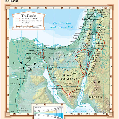 The Exodus Bible Wall Map