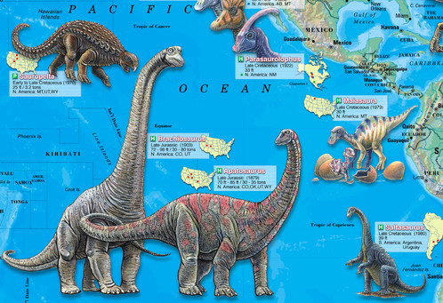 World of the dinosaurs wall map poster 36x24 dinosaurs wall map poster gumiabroncs Images