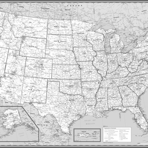 USA maps from coolowlmaps.com