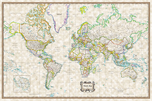World Wall Map Classic Executive