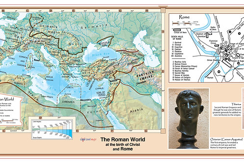 The Roman World at the Birth of Christ Wall Map
