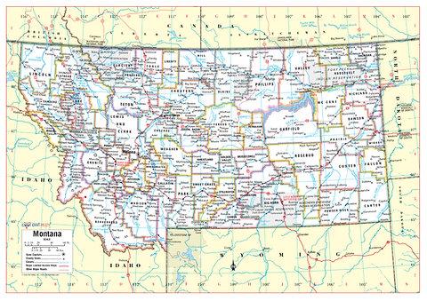 MONTANA State Wall Map - 34\