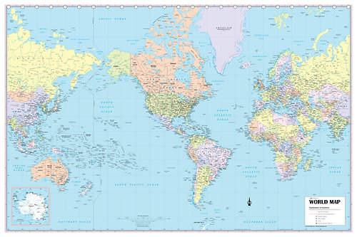 Wall Maps Posters Cool Owl Maps World Wall Map Usa Centered 36 X 24 Us