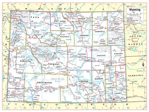 Wyoming state map