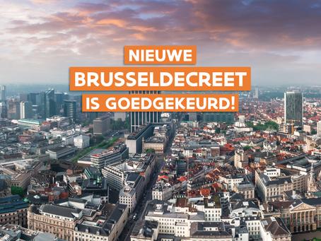 Nieuw Brusseldecreet goedgekeurd in Vlaams Parlement