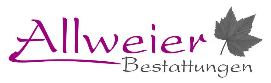 Logo Bestattungen Present mit Blatt grau