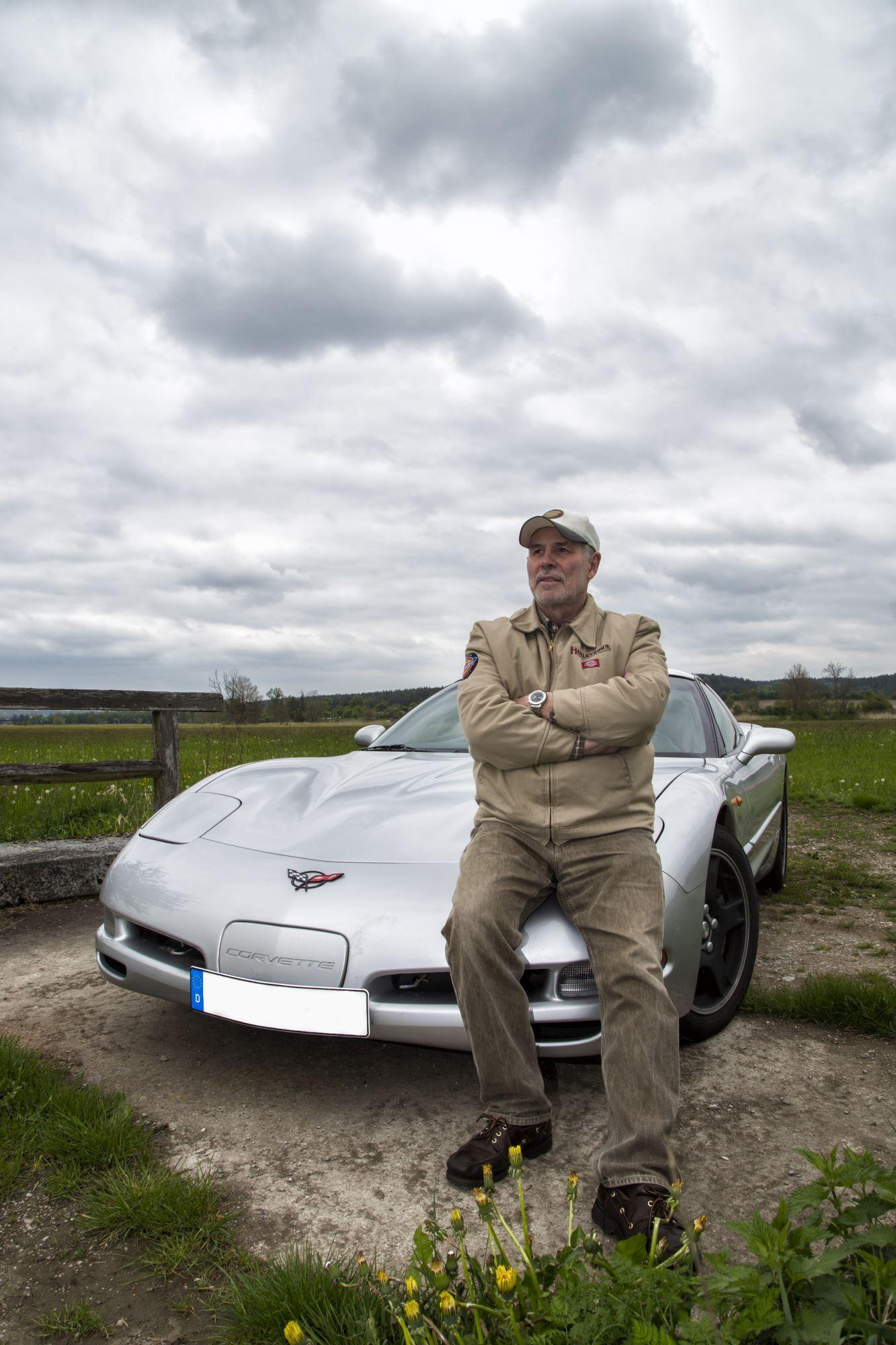Corvette mit Fahrer