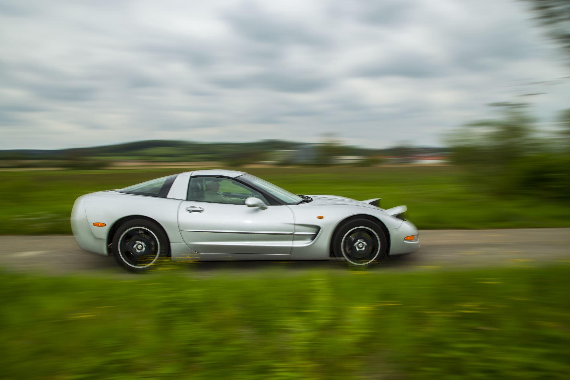 Corvette fahrend