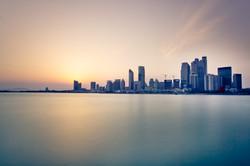 Pôr do sol Skyline da cidade