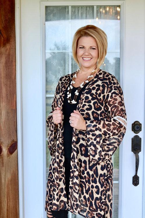 Feelin Fierce Leopard Kimono