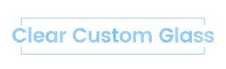 Clear Custom Glass Logo