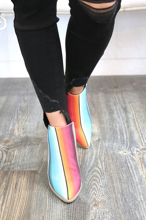 Serape Beauty Booties