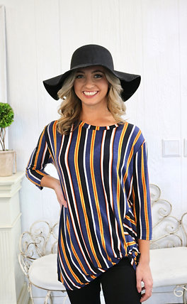 Fall Stripe Shirt With a Twist