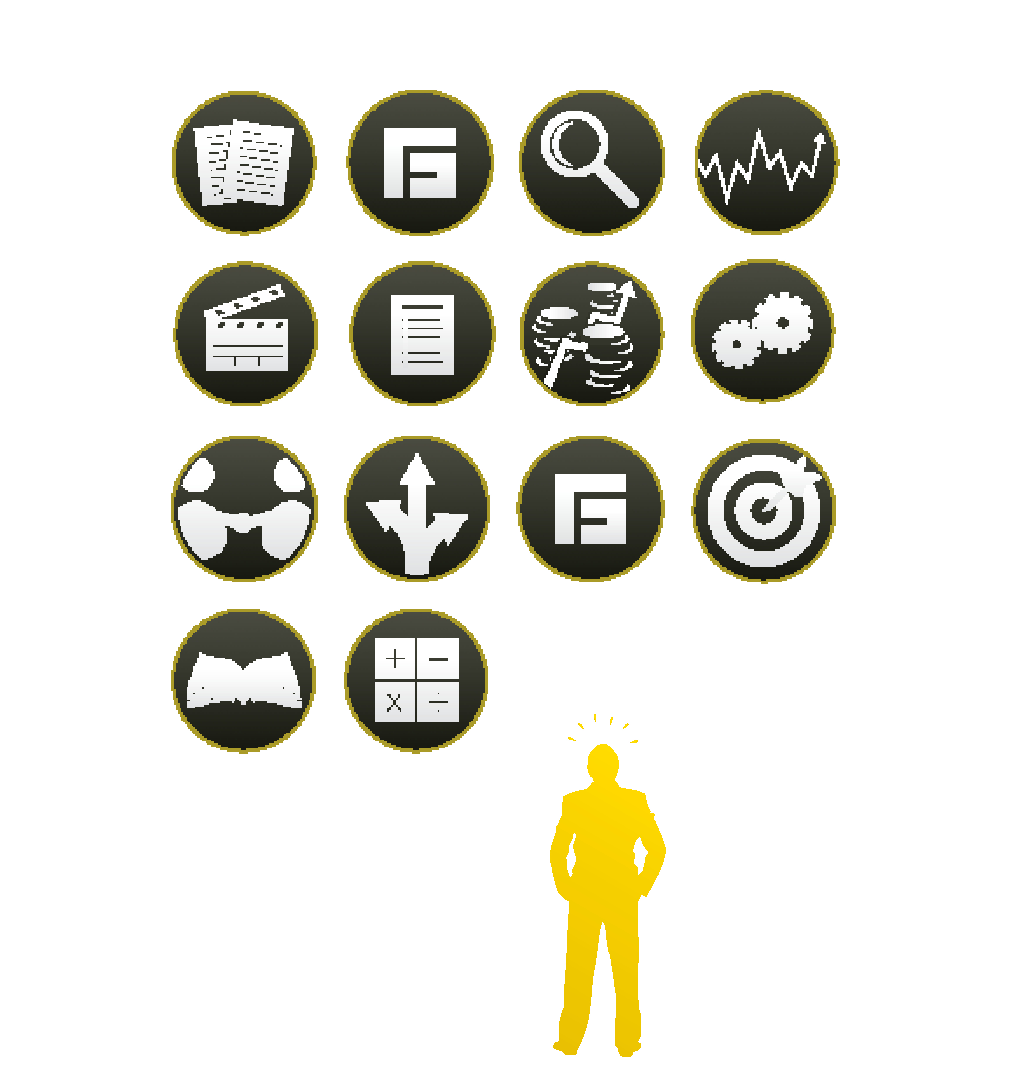 Iconography used in presentations