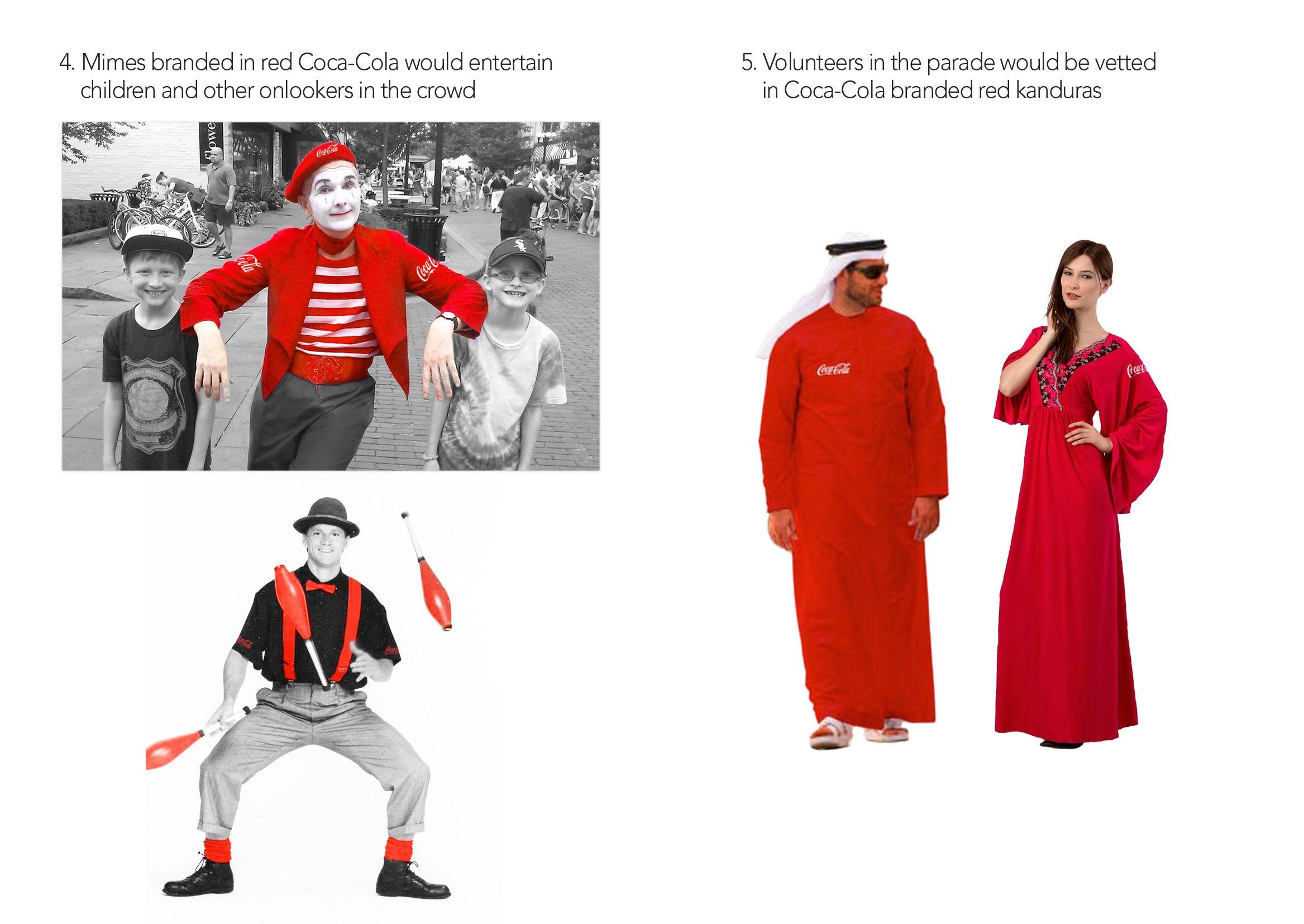 CocaCola-UAE40yrs-Campaign-mimes-and-volunteers
